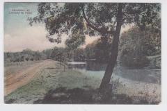A 1911 postcard of Lafayette Park along the Cedar River in Austin