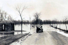 Horace Austin State Park during flood - (monkey cage on the left) Austin, Mn