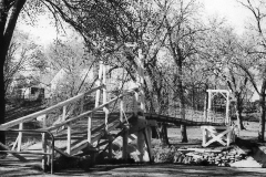 Swinging Bridge Lafayette Park Austin, Mn