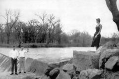 Austin High School students at Ramsey Dam - 1955