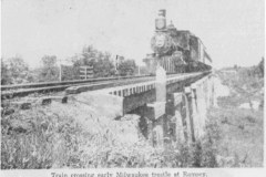 Train Crossing Ramsey Trestle picture - year unknown Austin, Mn
