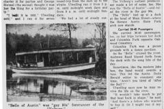 Boat on Cedar River Austin, Mn