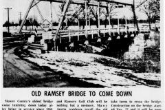 Old Ramsey Bridge Cedar River Austin, Mn