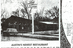 1964- Austin's newest restaurant the Oakleaf