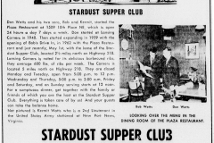 1967 Stardust Supper Club, Plaza Restaurant, Lansing Corners article - June 17th