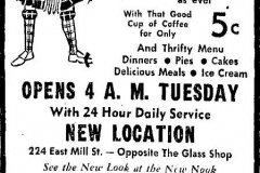 Kozy Nook ad January 17th 1959 Austin, Mn