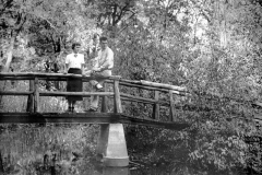 Austin High School students on a bridge - 1954 girl scout - kings wood