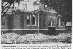 Columbus School Being Torn Down article - July 31st, 1957