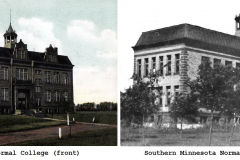 Southern Minnesota Normal College (was located on the south side of Galloway Park) Austin, Mn